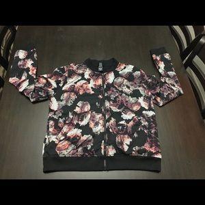 Victoria's Secret Sport Floral Bomber Gym Jacket L